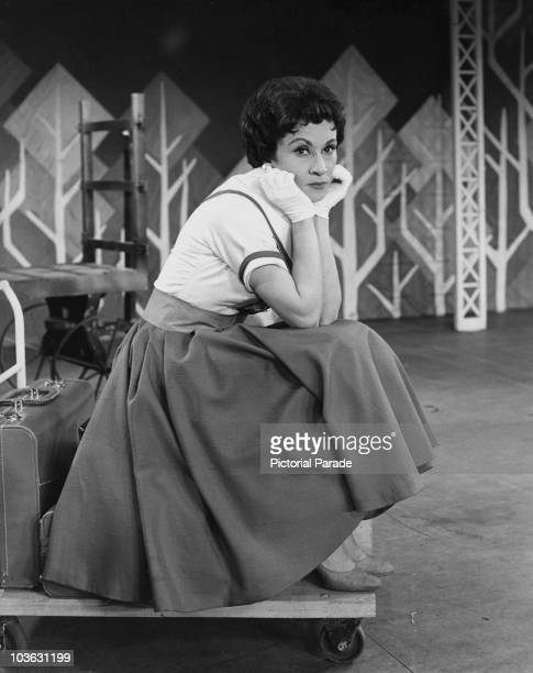 Chita Rivera American actress dancer and singer USA circa 1955 Rivera pictured with her chin resting in her hands wearing white gloves is best known...