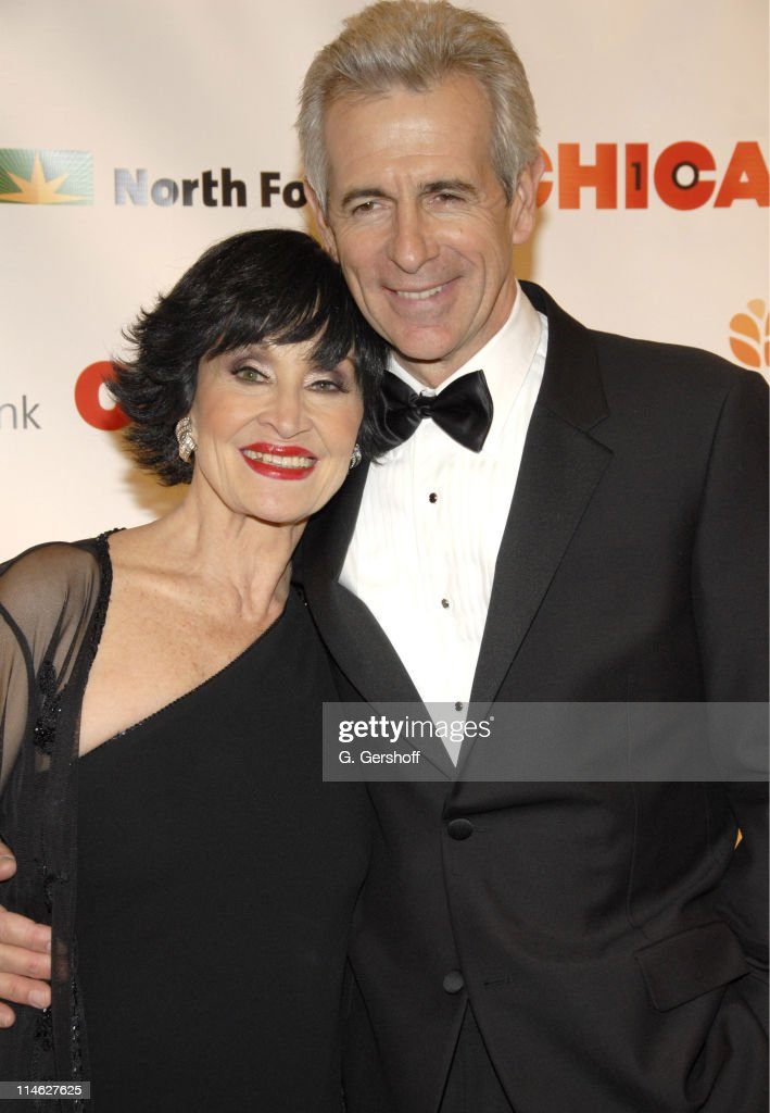Chita Rivera and James Naughton during Chicago the Musical Celebrates its 10th Anniversary on Broadway - Arrivals at Ambassador Theater in New York City, New York, United States.