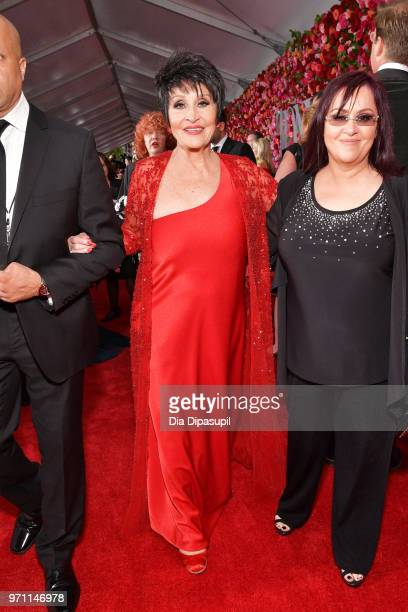 Chita Rivera and Lisa Mordente attend the 72nd Annual Tony Awards at Radio City Music Hall on June 10 2018 in New York City