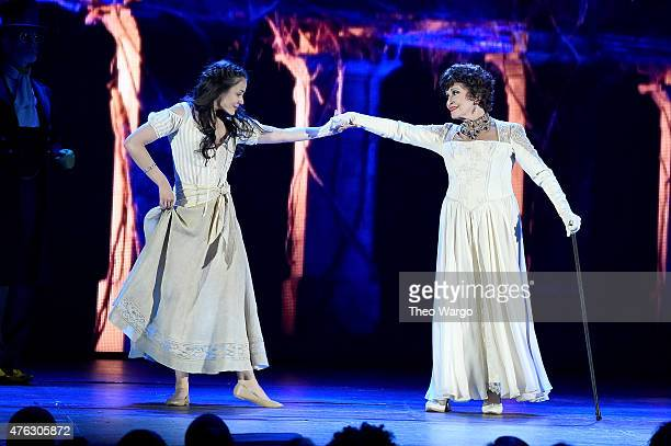 Chita Rivera and Michelle Veintimilla perform in 'The Visit' onstage at the 2015 Tony Awards at Radio City Music Hall on June 7 2015 in New York City