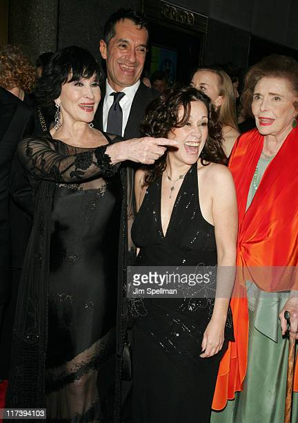 Chita Rivera and Patricia Neal with guests