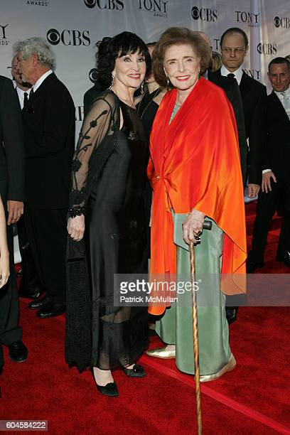 Chita Rivera and Patricia O'Neill attend 60th Annual Tony Awards Arrivals at Radio City Music Hall on June 11 2005 in New York City