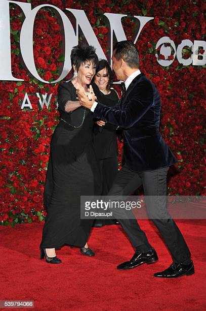 Chita Rivera and Sergio Trujillo dance on the red carpet at the 70th Annual Tony Awards at the Beacon Theatre on June 12 2016 in New York City