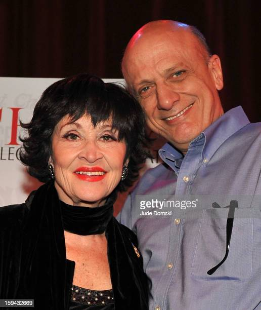 Chita Rivera and Tom Viola, the Executive Director of Broadway Cares/ Equity Fights AIDS, at a Press Conference at Birdland Jazz Club on January 13,...