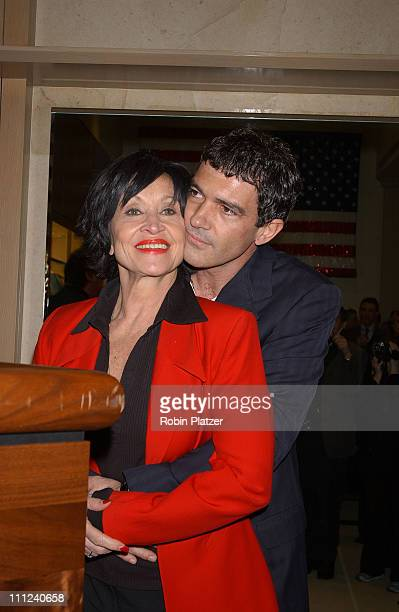 Chita Rivera Antonio Banderas during The Official Drama Desk Cocktail Party at St John Boutique in New York City New York United States