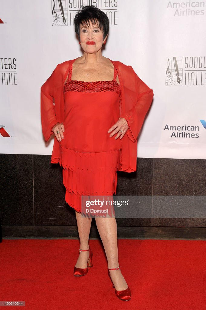 Chita Rivera attends Songwriters Hall Of Fame 45th Annual Induction And Awards - Arrivals at Marriott Marquis Theater on June 12, 2014 in New York City.