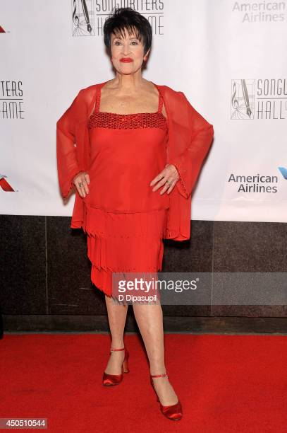 Chita Rivera attends Songwriters Hall Of Fame 45th Annual Induction And Awards Arrivals at Marriott Marquis Theater on June 12 2014 in New York City