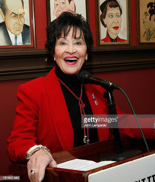 Chita Rivera attends the 2010 League Of Professional Theatre Women Awards at Sardi's on December 9 2010 in New York City