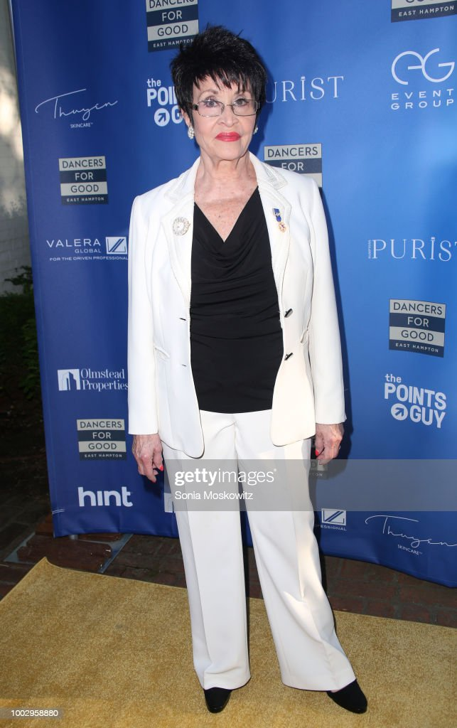 Chita Rivera attends the Dancers For Good 3rd Annual Benefit at Guild Hall on July 20, 2018 in East Hampton, New York.