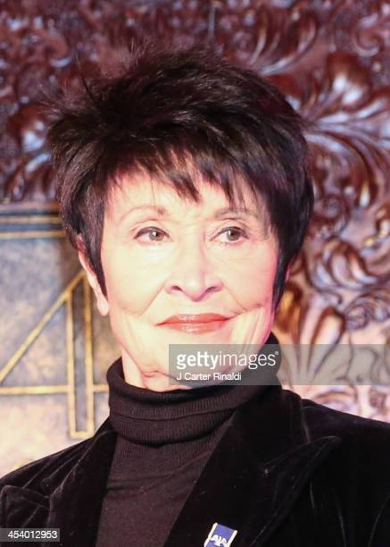 Chita Rivera attends 'The Hitlist' at 54 Below on December 6 2013 in New York City
