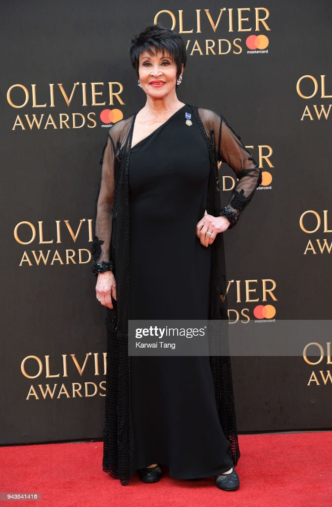 Chita Rivera attends The Olivier Awards with Mastercard at Royal Albert Hall on April 8, 2018 in London, England.