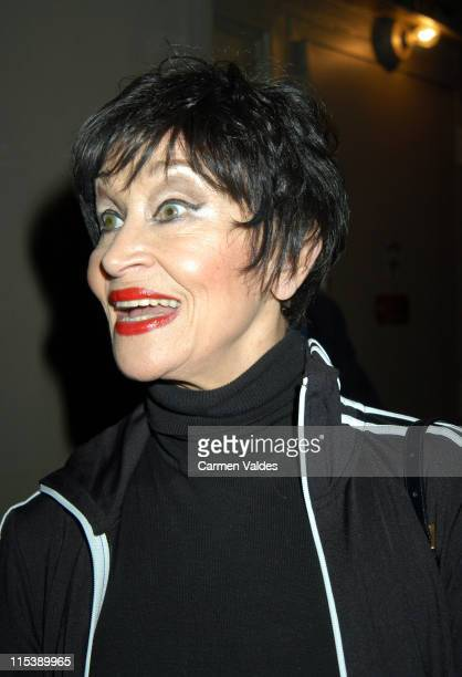 Chita Rivera during 'Nine' Exits at The Eugene O'Neill Theatre in New York City New York United States