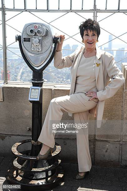 Chita Rivera lights The Empire State Building on May 12 2016 in New York City