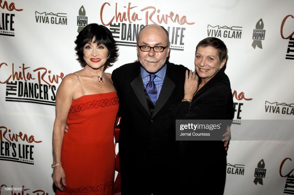 Chita Rivera, Mark Hummel and Graciela Daniele during 'Chita Rivera: The Dancer's Life' Broadway Opening Night - After Party at The Copacabana in New York City, New York, United States.