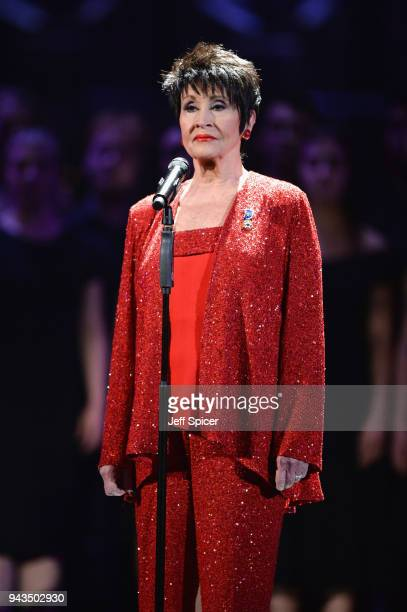 Chita Rivera performs on stage during The Olivier Awards with Mastercard at Royal Albert Hall on April 8 2018 in London England