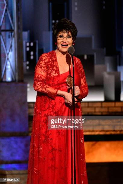 Chita Rivera recipient of the 2018 Special Tony Award for Lifetime Achievement in the Theater at THE 72nd ANNUAL TONY AWARDS broadcast live from...
