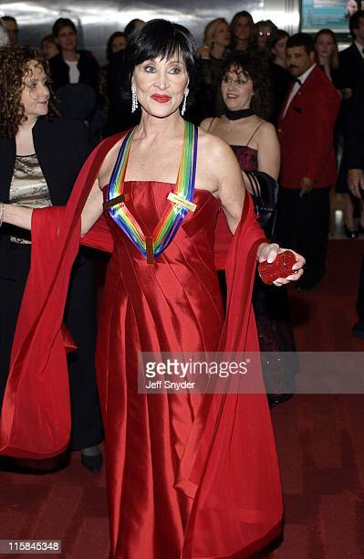 Chita Rivera wearing Carmen Marc Valvo during Kennedy Center Honors 2002 at Kennedy Center in Washington DC United States