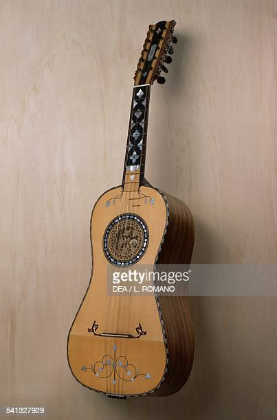 Chitarra battente musical instrument built in the workshop of the luthier Pasquale Scala in Praiano Campania Italy 20th century