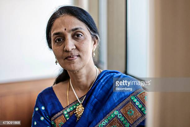 Chitra Ramkrishna managing director chief executive officer of the National Stock Exchange of India Ltd poses for a photograph in Mumbai India on...