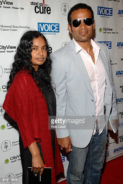 Chitra Sukhu and Mario Van Peebles attend Stand Up For A Cure Jerry Seinfeld Live In Concert at WaMu Theater at Madison Square Garden on June 2 2008...