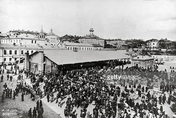 Chitrov market in Moscow Photograph Russia Around 1900 [Chitrov Markt in Moskau Photographie Russland Um 1900]