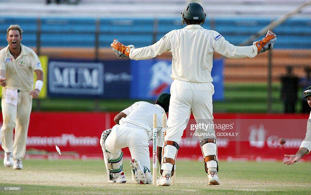 Bangladeshi cricketer Mohammad Ashraful : News Photo