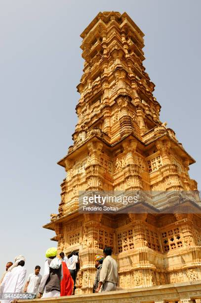 Chittaurgarh Fort in Rajasthan Vijay Stambha at Chittaurgarh Fort The fort was built by the Maurya dynasty in the 7th century AD The tower dedicated...