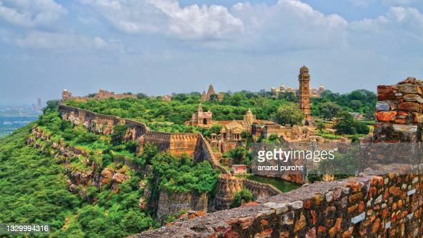 chittorgarh fort, india - national landmark stock pictures, royalty-free photos & images