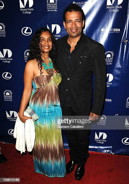 Chittra Sukhu and Mario Van Peebles attends the World Premiere of Things Fall Apart at 2011 Miami International Film Festival on March 5 2011 in...