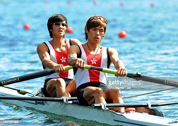 Chiu Mang Tang and Ki Cheong Kwan of Hong Kong in the Lightweight Men's Pair SemiFinal during Day 3 of the 2012 FISA World Rowing U23 Championships...