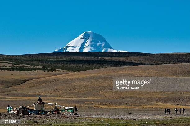 Chiu nymgmapa gompa near Manasarovar lake in Tibet