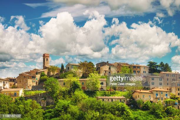chiusdino, old italian town in tuscany, italy - italy stock pictures, royalty-free photos & images