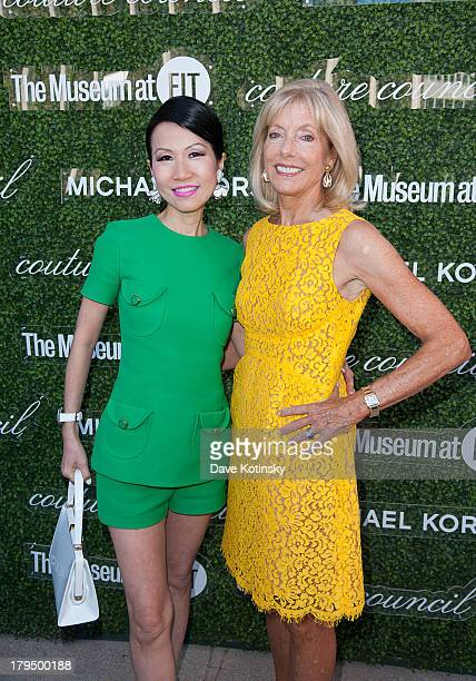 ChiuTi Jansen and Liz Peek attends 2013 Couture Council Fashion Visionary Awards at David H Koch Theater Lincoln Center on September 4 2013 in New...