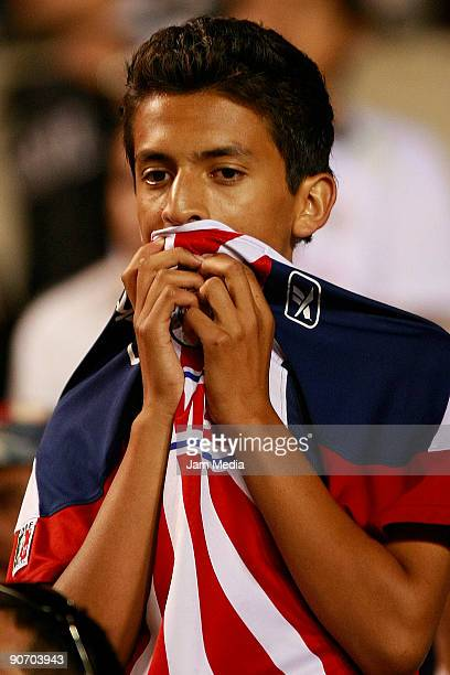 Chivas' fan during the match against San Luis for the 2009 Opening tournament the closing stage of the Mexican Football League at the Alfonso Lastras...