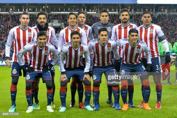 CD Chivas Guadalajara team before the 2018 CONCACAF Champions League Final match between Toronto FC and CD Chivas Guadalajara at BMO Field in Toronto...