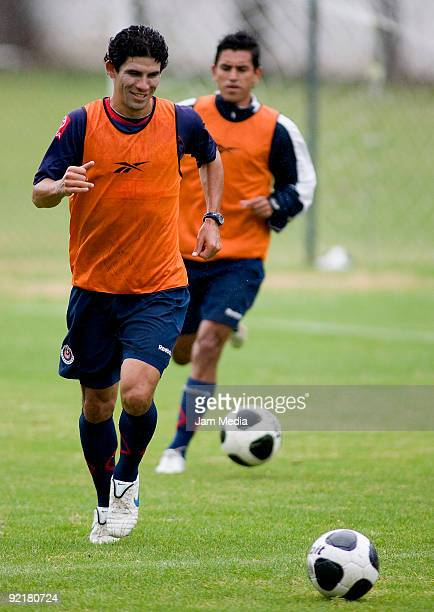 Chivas' player Jonny Magallon in action during their training session at the Verde Valle Stadium on October 21 2009 in Zapopan Mexico