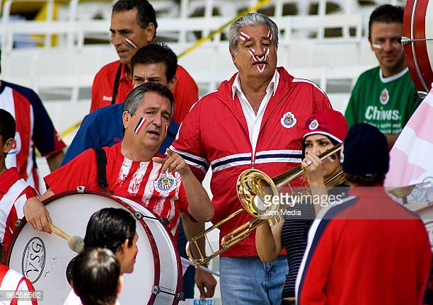 Chivas' President Jorge Vergara and Sports president Rafael Lebrija during the official photo of the Chivas team as part of the 2010 Bicentenary...