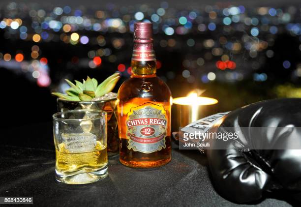 Chivas Regal 12 at Diego Boneta's David Bernon's Halloween at the Hedges by Chivas Regal on October 30 2017 in West Hollywood California