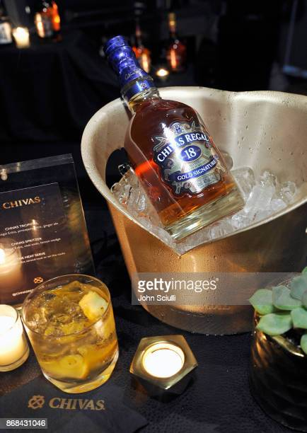 Chivas Regal 18 at Diego Boneta's David Bernon's Halloween at the Hedges by Chivas Regal on October 30 2017 in West Hollywood California