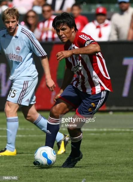 Chivas USA's Claudio Suarez against Colorado Rapids. Chivas USA lose 2-1 to the Colorado Rapids at The Home Depot Center