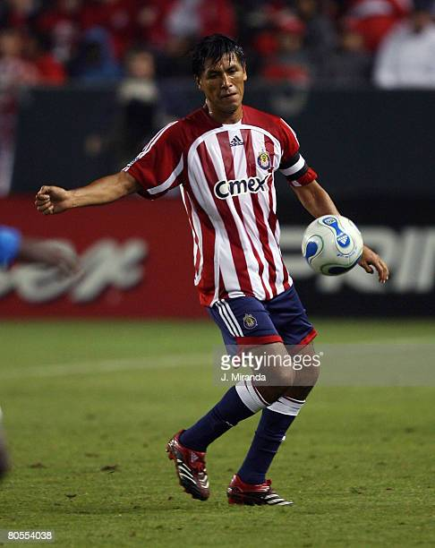 Chivas USA's Claudio Suarez in action against Kansas City Wizards. Kansas City Wizards held on to its single-goal series lead at the Home Depot...