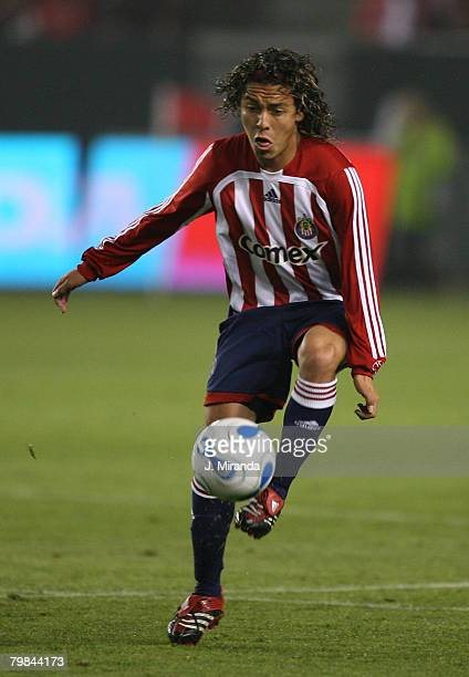 Chivas USA's Francisco Mendoza in action against Kansas City Wizards. Kansas City Wizards held on to its single-goal series lead at the Home Depot...