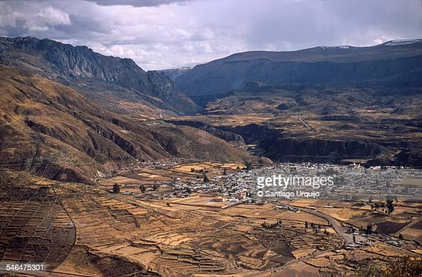 Chivay town in the Colca valley