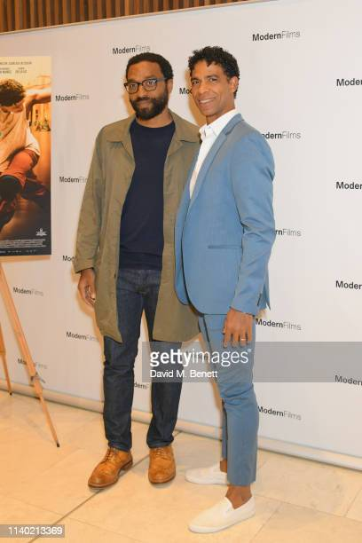 Chiwetel Ejiofor and Carlos Acosta attend a special screening of Yuli The Carlos Acosta Story at The Royal Opera House on April 03 2019 in London...