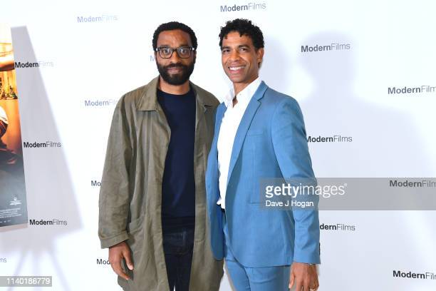 Chiwetel Ejiofor and Carlos Acosta attend the Yuli – The Carlos Acosta Story screening reception at The Royal Opera House on April 03 2019 in London...