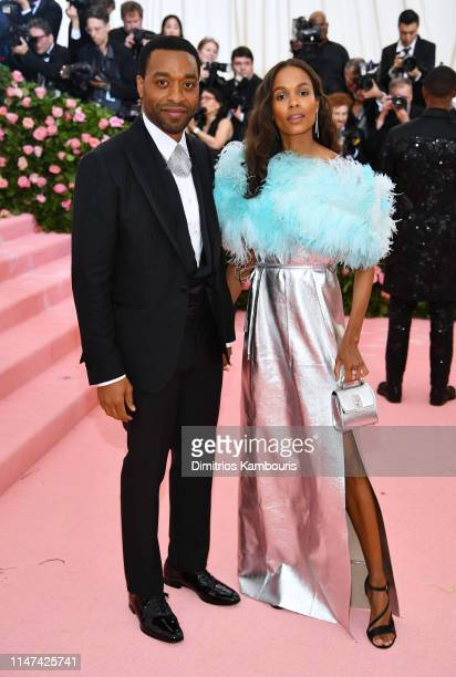 Chiwetel Ejiofor and Frances Aaternir attend The 2019 Met Gala Celebrating Camp Notes on Fashion at Metropolitan Museum of Art on May 06 2019 in New...