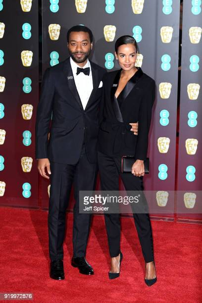 Chiwetel Ejiofor and Frances Aaternir attend the EE British Academy Film Awards held at Royal Albert Hall on February 18 2018 in London England