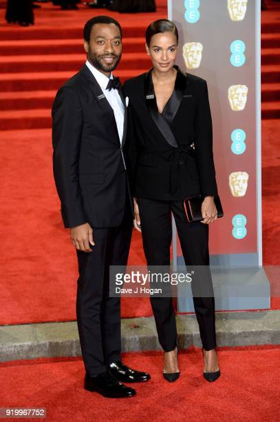 Chiwetel Ejiofor and guest attend the EE British Academy Film Awards held at Royal Albert Hall on February 18 2018 in London England