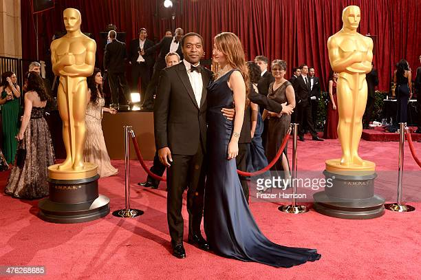 Chiwetel Ejiofor and Sari Mercer attend the Oscars held at Hollywood Highland Center on March 2 2014 in Hollywood California