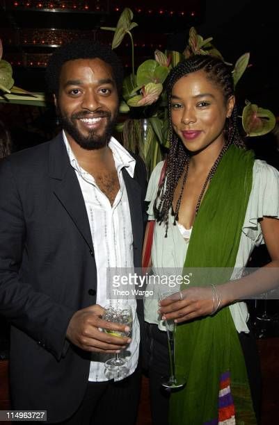 Chiwetel Ejiofor and Sophie Okonedo during 'The Human Stain' New York City Premiere After Party at Brasserie 8 1/2 in New York City New York United...